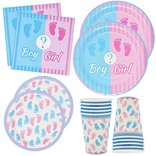 Gift Boutique Gender Reveal Party Supplies Set 24 9