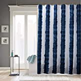 JaHGDU Shower Curtain 1pcs Shower Curtain Curtains Polyester Material Mildewproof Thickened Bathroom Amenities 70x72inch White Blue Stripe (Size : 70x79inch)