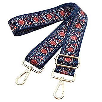 Bag Straps Replacement Guitar Strap Adjustable Wide Strap For Purse Travel Bag - Blue - One Size