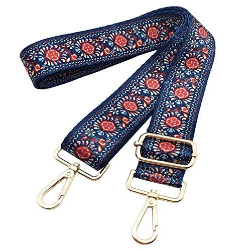 Cotton Square Handbag Shoulder Bag - Bag Straps Replacement Guitar Strap Nylon Adjustable Wide Strap/Handle For Crossbody Shoulder Handbag Tote Bag Toiltry Duffel Bag Bohemia Blue