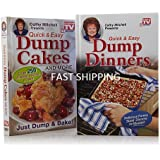 Dump Cakes and Dump Dinners Quick & Easy Cookbook Combo (Both Hardcover)
