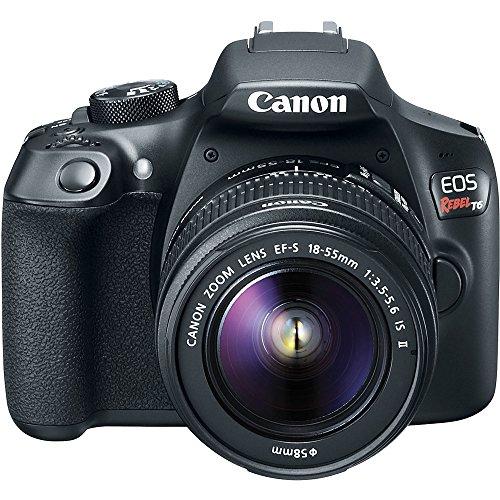 Canon-T6-EOS-Rebel-DSLR-Camera-18-55mm-75-300mm-Dual-Lens-Tascam-Video-Creator-Kit