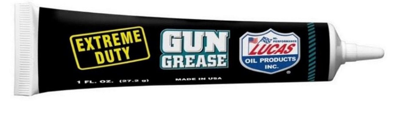 LUCAS Extreme Duty 4oz Gun Oil 10877 - Grease Tube 10889 - Needle Oiler 10875 by Lucas Oil