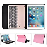 Keyboard and Case,TOOPOOT For iPad Pro 9.7 inch Wireless Bluetooth Keyboard and Filp Case (Pink) (pink)