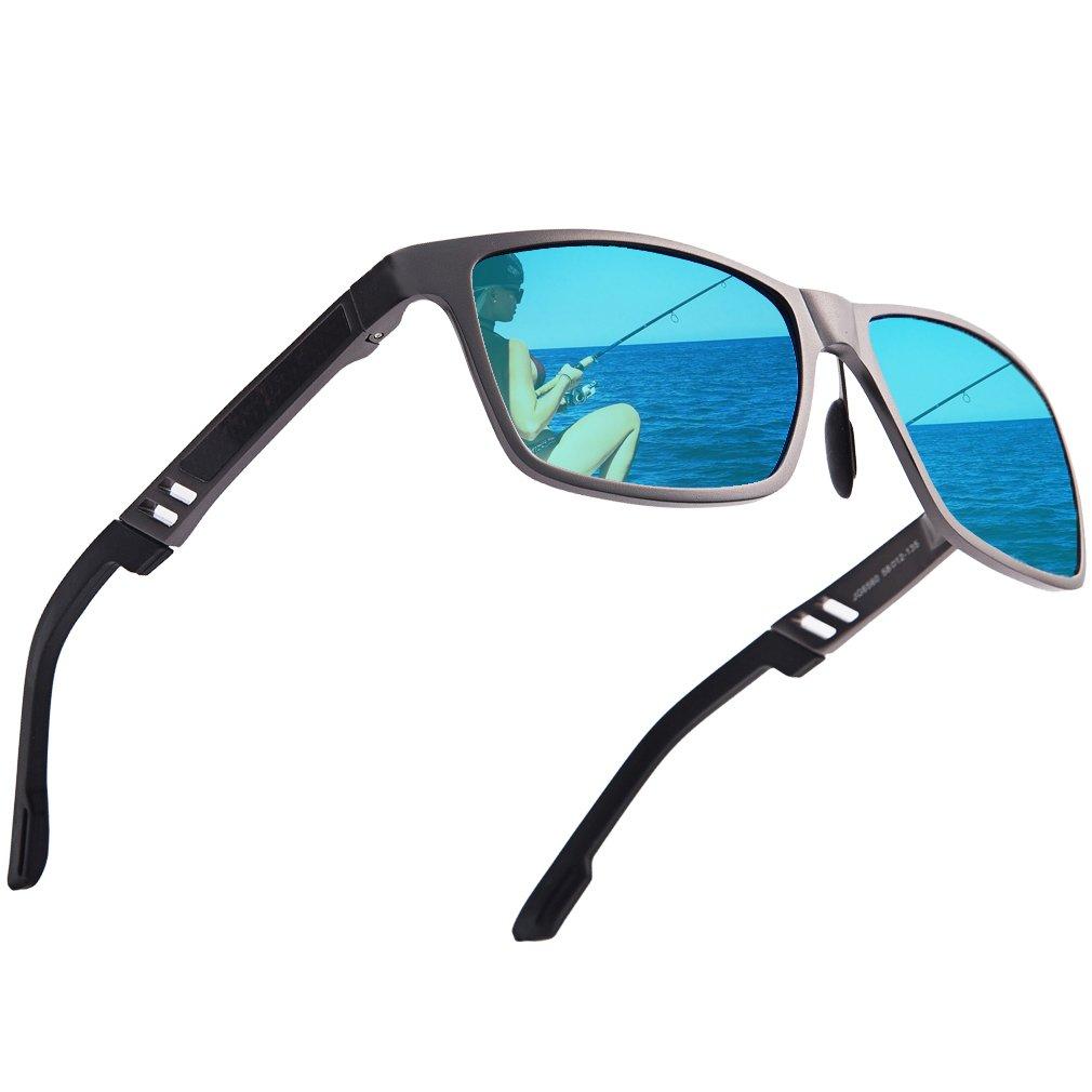 Polarized Wayfarer Sunglasses for Men women - UV400 Classic 80's Vintage Style