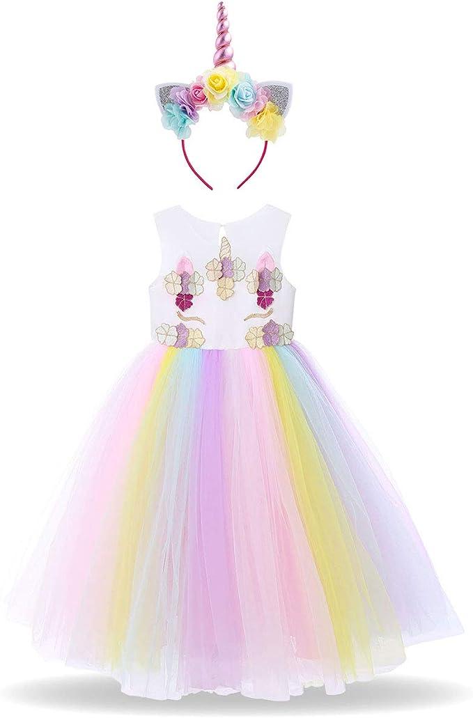 Disfraz de Halloween Unicornio Vestido del Arco Iris Traje ...