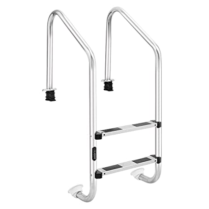 Amazon.com : Goujxcy Pool Ladder, in-Pool Plastic Ladder for Above ...
