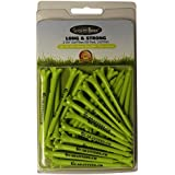 """Green Golf Tees by GuaranTees, 2 3/4"""" Virtually Unbreakable Plastic, 30 Pack Neon Flourescent Color, U.S. Made"""