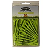 Green Golf Tees by GuaranTees, 2 3/4'' Virtually Unbreakable Plastic, 30 Pack Neon Flourescent Color, U.S. Made