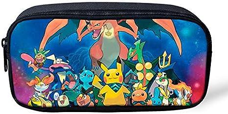 Pokemon Pikachu - Estuche para lápices de gran capacidad para la escuela, oficina, colegio, colegio, niña, tamaño grande, color Pikachu-1 22x11x4.5cm: Amazon.es: Oficina y papelería