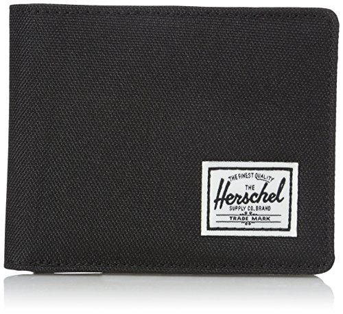 Herschel Supply Co. Men's Hank RFID Wallet, Black Synthetic Leather, One Size -