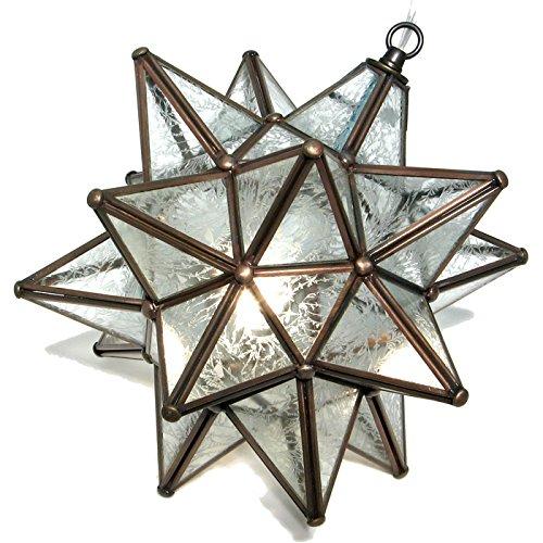 Moravian Pendant Glass Bronze Frame