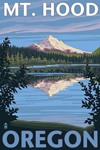 Lost Lake, Oregon - Mt. Hood (12x18 Art Print, Wall Decor Travel Poster) - Oregon Vintage Travel Poster