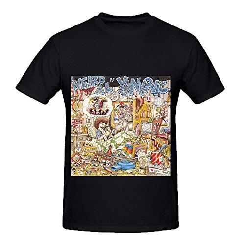 Weird Al Yankovic Tour Rock Men O Neck Graphic Tee Shirts