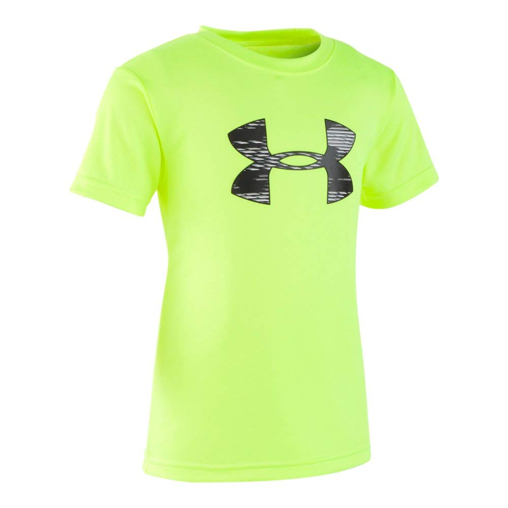 Under Armour Boys' Toddler Tech Big Logo Short Sleeve T-Shirt, Travel hi gh/vis Yellow, 4T