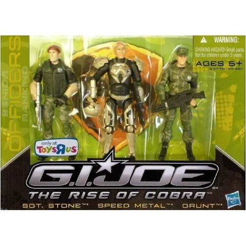 G.I. Joe The Rise of Cobra Exclusive Action Figure 3-Pack Sgt. Stone, Speed Metal and Grunt