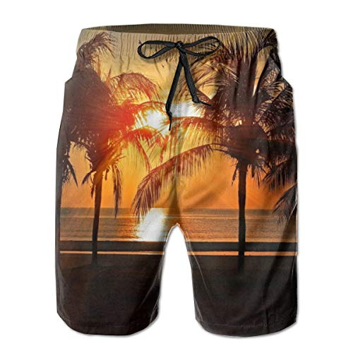 Microfiber Cannabis History Leaves Solid Board Swimming Trunks Mens Shorts Slim Fit