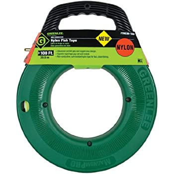 Greenlee ftn536 100 100 feet x 3 16 inch nylon fish tape for Greenlee fish tape