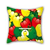 PILLO 20 x 20 inches / 50 by 50 cm flower pillow cases,double sides is fit for dining room,play room,divan,club,indoor,chair