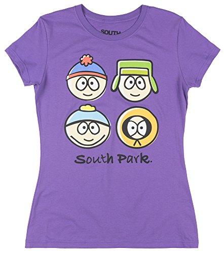South Park Character Juniors Petite SS T-Shirt In (South Park Juniors T-shirts)