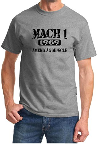 1969 Ford Mustang Mach 1 American Muscle Car Design Tshirt XL (Ford Mustang Mach 1)