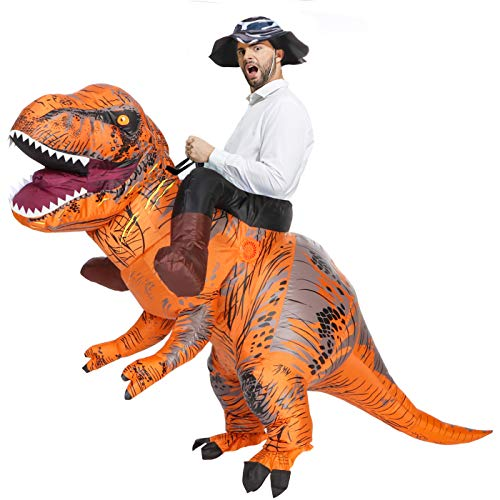 2018 Newest T-REX Riding Costume Inflatable Large Dinosaur Costume for Halloween Party Costumes