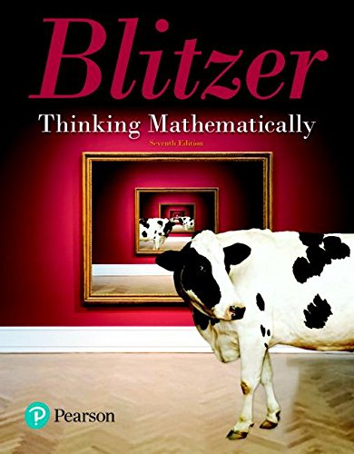 Thinking Mathematically (7th Edition) by Pearson