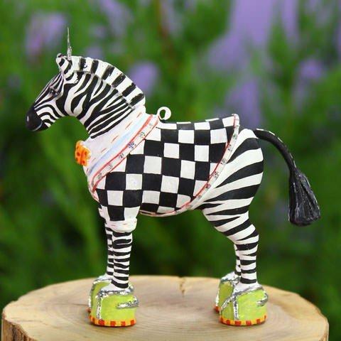 (Patience Brewster Christmas Home Decor Mini Zeke Zebra Ornament 30998)