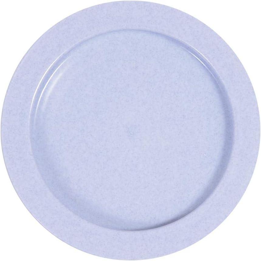 Maddak Inner-Lip Plastic Plate, Light Blue (745310001)