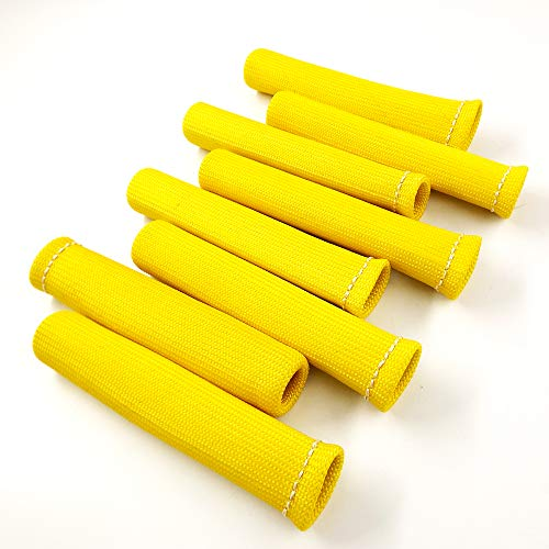labwork-parts Yellow 8PCS 1200° Spark Plug Wire Boots Heat Shield Protector Sleeve SBC BBC