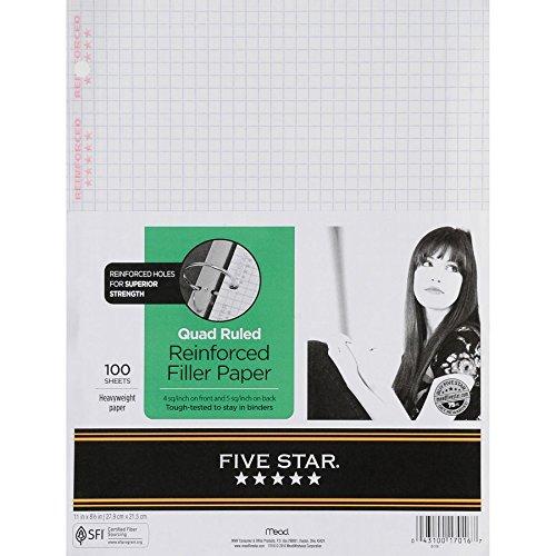 Five Star Filler Paper, Graph Quad Ruled
