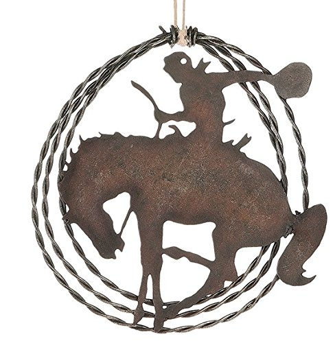 Rodeo Christmas Ornament (Bucking Bronco Rodeo Rider Old West Western Cowboy Horses Christmas Tree Ornament)