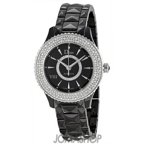 Christian Dior VIII Diamond Black Ceramic and Steel Ladies Watch - Black Dior Watches Ladies