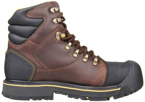 KEEN Utility Men's Milwaukee 6-Inch Steel Toe Work Boot,Slate Black,12 D US