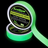 Glow in the Dark Fluorescent Tape 30' ft Length x 1 Inch Wide, Premium Quality Non-Toxic, 12 Hour Glow. Easily Removable & Waterproof. Perfect for Home and Office use.
