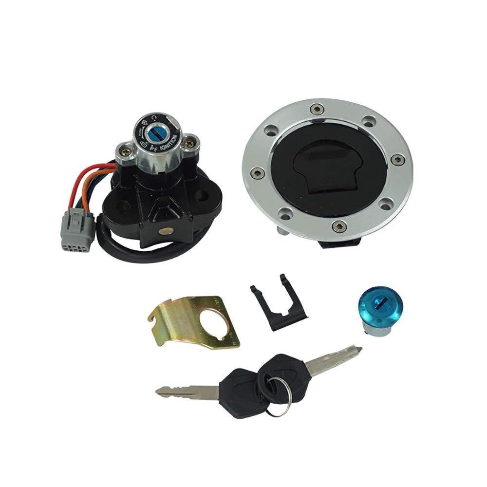 XM-Accesorios de motos Easy to Install Motorcycle Ignition Switch Fuel Gas Cap Cover Lock Keys Set for Suzuki GSXR1000 GSXR600 GSXR750 2005-2015, Durable