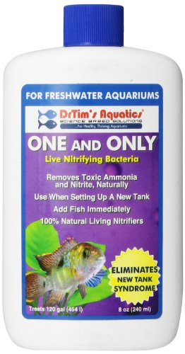 Cycle Freshwater Aquarium (DrTim's Aquatics One & Only Live Nitrifying Bacteria for Cycling Aquaria, Fresh Water, 8-Ounce)