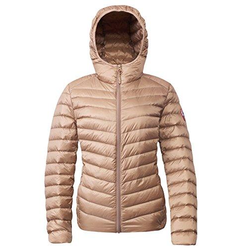 Rokka&Rolla Women's Ultra Lightweight Hooded Packable Puffer Down Jacket (S, ()