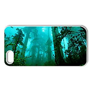 FOREST FOG - Case Cover for iPhone 5 and 5S (Forests Series, Watercolor style, White)
