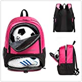 Tindecokin Girls Soccer Bag - Youth Soccer Backpack Football & Basketball & Volleyball Training Package