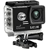 SJCAM SJ5000 WIFI Action Camera 14MP 1080p Ultra HD Waterproof Underwater Camera Large Screen Wide Angle Sports DV Camcorder for Diving Swimming Surfing Biking Wifi Cam- Black