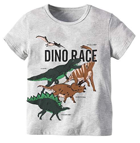 73fcc95f7b Toddler Baby Boys Tops Cartoon Dinosaur Print Tees Kids Cotton Clothes  Summer Short Sleeves T-