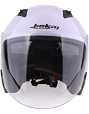 HOMYL Motorcycle Helmet 3/4 Open Face Helmet with Shield - Pick Size & Color - White L