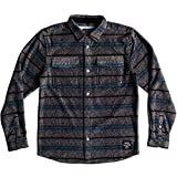 Quiksilver Big Boys' LS Surf Days Youth Button up Flannel Shirt, DGH Surf Days Stripe, L/14