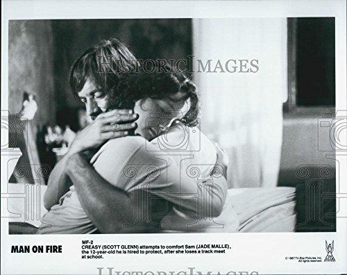 1987 Press Photo Actors Scott Glenn And Jade Malle In Film