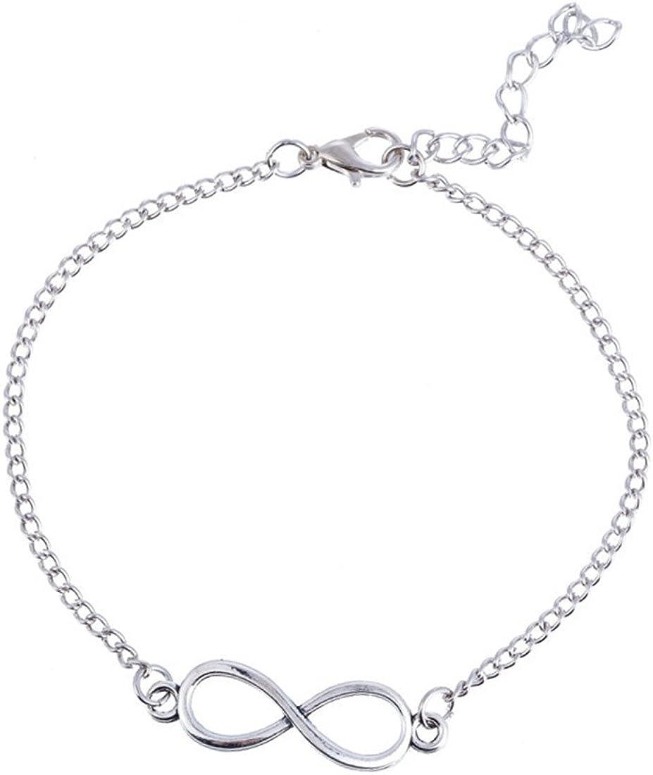 Lumanuby 1/pcs Cheville Cha/îne femme Charm Motif /él/égant double couche Bracelet Pieds nus Sandale Fille Pied Bijoux Accessoires Amour Cadeau