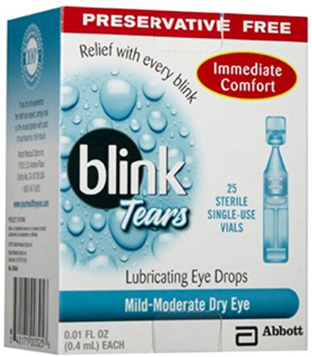 blink Tears Lubricating Eye Drops Mild-Moderate Dry Eye 25 Each (Pack of 12)