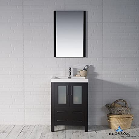 BLOSSOM 001 24 02 ATM Sydney 24 Vanity Set With Acrylic Top And Mirror Espresso