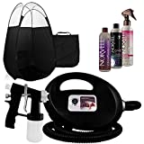 Black Fascination FX Spray Tanning Machine and Kit with Norvell Airbrush Tan Solution Bundle and Black Tent