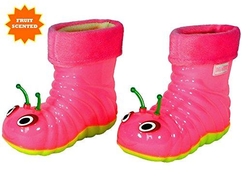 Beastie Shoes Children's Waterproof Rain Boots Cartoon Animals Toddler/Little Kid (26 (8 M US Toddler), Pink) by Beastie Shoes (Image #3)